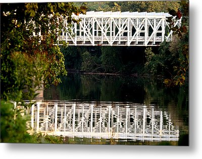Metal Print featuring the photograph The Falls Bridge by Christopher Woods