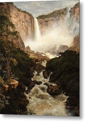 The Falls Of The Tequendama Near Bogota, New Granada Metal Print by Frederic Edwin Church