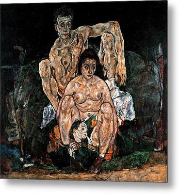 The Family, 1918 Metal Print by Egon Schiele
