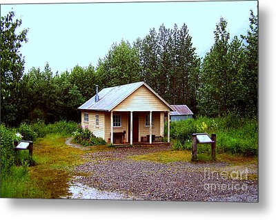 The Famous Cabin Of Fannie Quigley Metal Print by Kathy  White