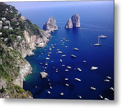 The Faraglioni Of Capri Metal Print by Ze  Di