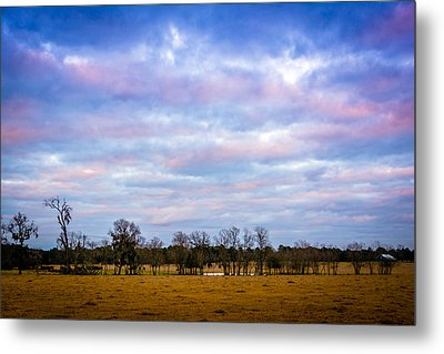 The Farm Before The Winter Storm  Metal Print