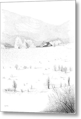 The Farm Metal Print by Carl Genovese