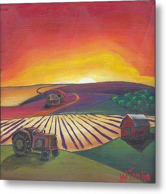 'the Farm' Metal Print