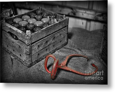 The Farmer's Milk Crate  Metal Print by Lee Dos Santos