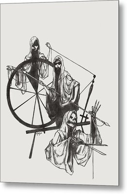 The Fates Metal Print by Amiri Bennett