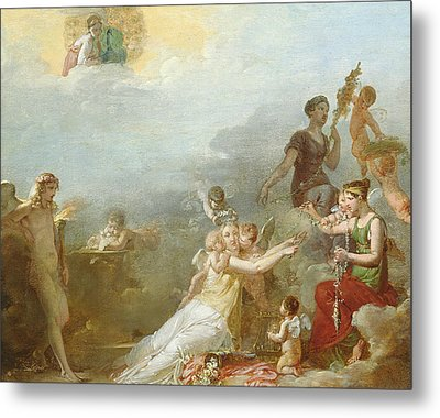 The Fates Metal Print by Jean Baptiste Mallet