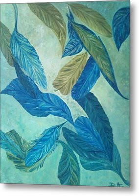 The Feather-leaf Morph Metal Print