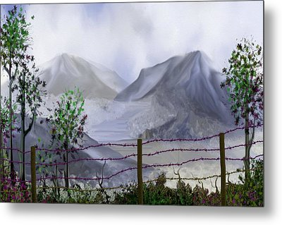 The Fence Metal Print by Tony Rodriguez