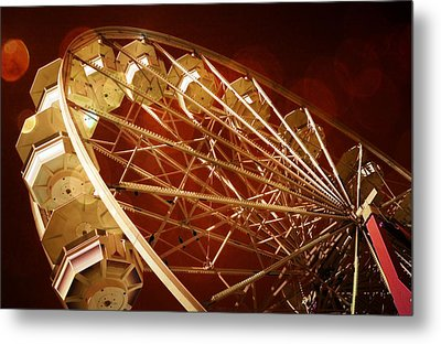 The Ferris Wheel Metal Print by Bob Pardue