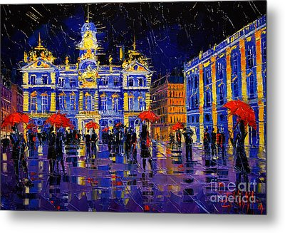 The Festival Of Lights In Lyon France Metal Print by Mona Edulesco