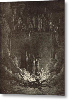 The Fiery Furnace Metal Print by Antique Engravings