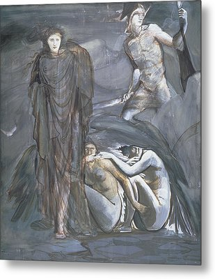 The Finding Of Medusa, C.1876 Metal Print by Sir Edward Coley Burne-Jones