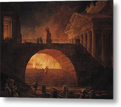 The Fire Of Rome Metal Print