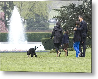 The First Family And Bo Metal Print by JP Tripp