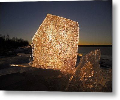 Metal Print featuring the photograph The First Ice ... by Juergen Weiss