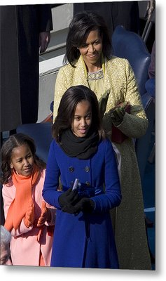 The First Lady And Daughters Metal Print by JP Tripp