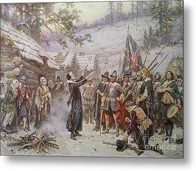 The First Sermon Ashore Metal Print