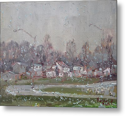 The First Snowflakes Of The Season  Metal Print by Ylli Haruni