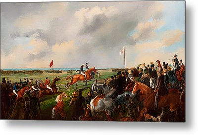 The First Steeplechase In South Australia 1846 Metal Print by Mountain Dreams