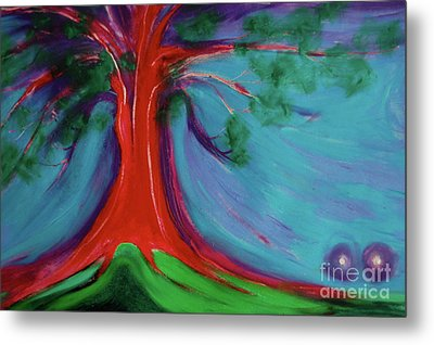 Metal Print featuring the painting The First Tree By Jrr by First Star Art