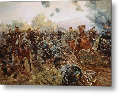 The First Vc Of The European War, 1914 Metal Print by Richard Caton II Woodville