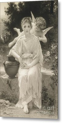 The First Whisper Of Love After Bouguereau Metal Print by  John Douglas Miller