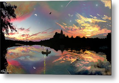 The Fisherman Metal Print by Michael Rucker
