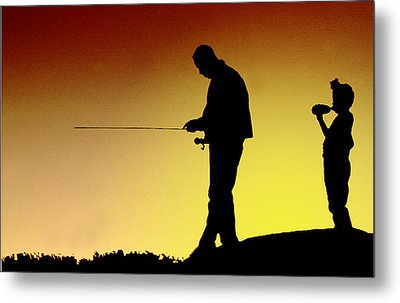 Metal Print featuring the photograph The Fisherman by Mike Flynn