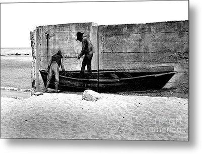 The Fishermen And The Sea... Metal Print by Chiara Corsaro