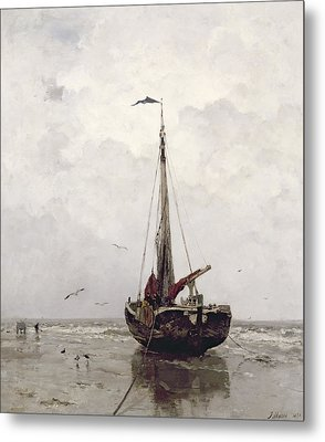 The Fishing Boat Metal Print by Jacob H Maris