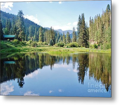 Metal Print featuring the photograph The Fishing Hole by William Wyckoff