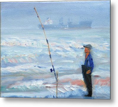 The Fishing Man Metal Print