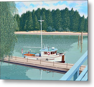 The Converted Fishing Trawler Gulvik Metal Print by Gary Giacomelli