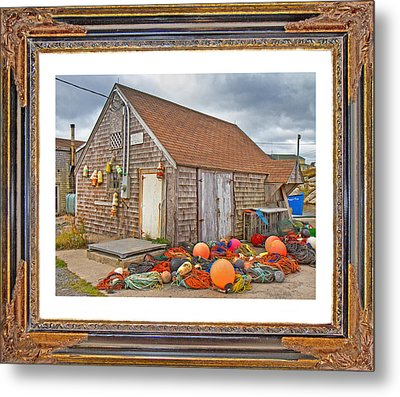 The Fishing Village Scene Metal Print by Betsy Knapp