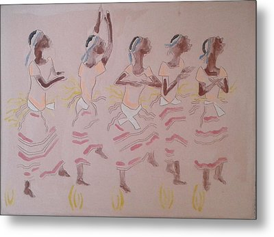 The Five Wise Virgins Metal Print by Gloria Ssali