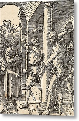 The Flagellation Metal Print by Albrecht Durer