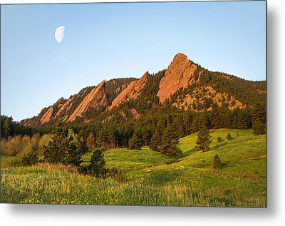 The Flatirons - Spring Metal Print