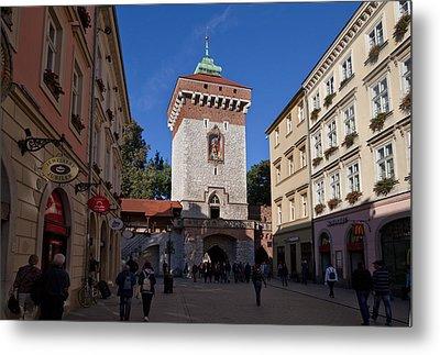 The Florianska Gate, Krakow, Poland Metal Print