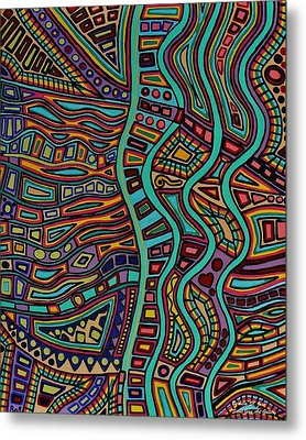 Metal Print featuring the painting The Flow by Barbara St Jean