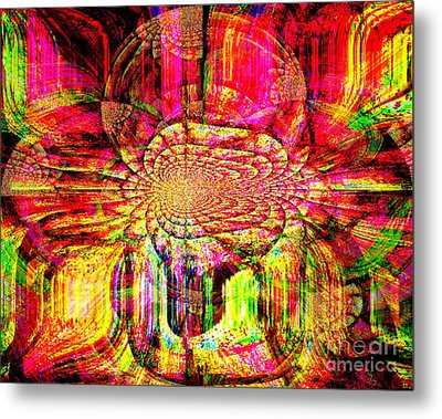 The Flow Of Gentleness And Compassion Metal Print by Fania Simon