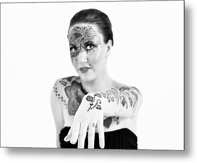 The Flower Tattoo  Metal Print by Alex Pochinok