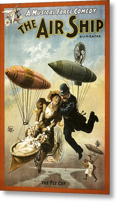 The Fly Cop Metal Print by Aged Pixel