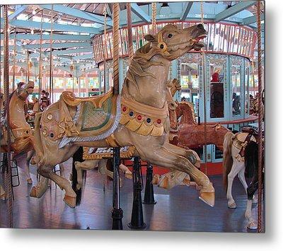 The Flying Horses Metal Print by Margaret Bobb