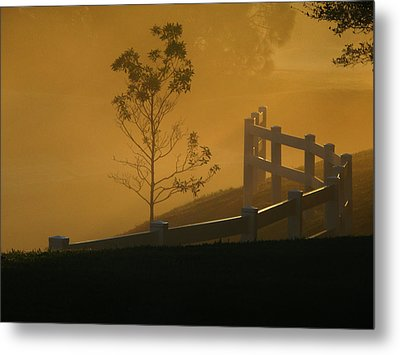 Metal Print featuring the photograph The Fog by Oscar Alvarez Jr