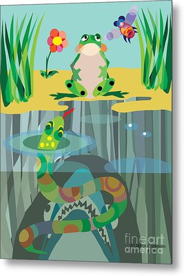 The Food Chain Metal Print