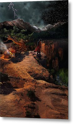 The Fool Metal Print by Ric Soulen