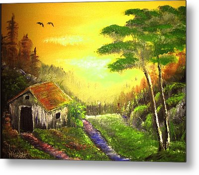 The Forest House Metal Print by M Bhatt