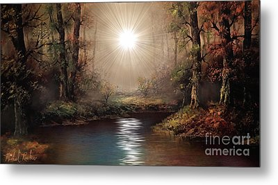 Sunrise Forest  Metal Print by Michael Rucker