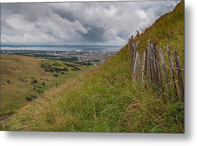 Metal Print featuring the photograph The Forgotten Fence by Sergey Simanovsky